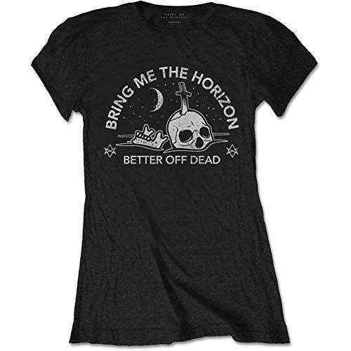 Bring Me The Horizon Damen Happy Song T-Shirt, Schwarz (Black Black), 38 (Herstellergröße: Large)