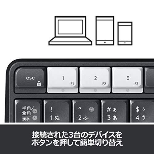 ロジクールワイヤレスキーボード無線K370sWindowsMacChromeAndroidiOS対応BluetoothUnifyingワイヤレスキーボード耐水スタンド付国内正規品2年間無償保証