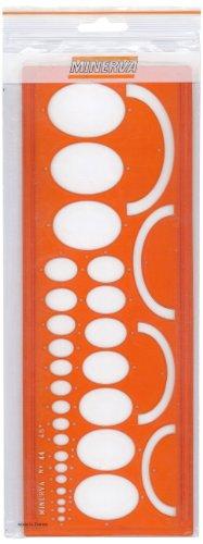 Minerva Ellipses 45° - Regla para trazar elipses (n.º 44/45), color naranja
