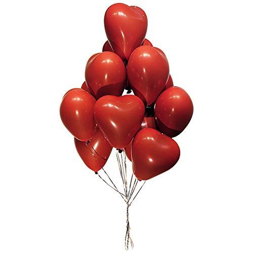 Unishop Kit de arco de globo redondo Globos Corazón Rojo Decoración Globos de Confeti para Bodas Decoración Fiestas día de San Valentín y Proponer (01)