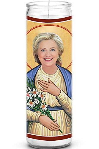 Hillary Clinton Celebrity Prayer Candle - Funny Saint Candle - 8 inch...