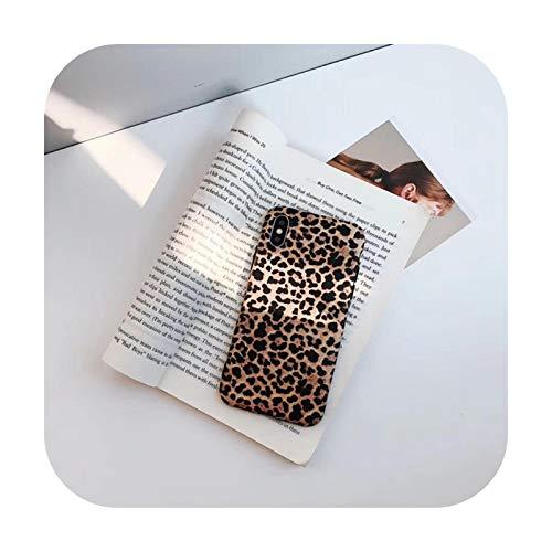 Phonecase - Carcasa de silicona para iPhone 11 12 Pro Max Mini 6S 7 8 Plus, diseño de leopardo