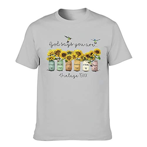 Bohohobo You are Unique Special Lovely Strong Choosen Girasole Premium Vari Tipi T-Shirt Shirt per Amici Grigio argento XXL