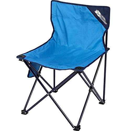 JQXB Folding Camping Chair Lightweight Portable Festival Fishing Outdoor Travel Seat, with Cup Holder,Blue