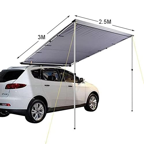 3-4 Person Car Side Awning Rooftop Tent 4wd Waterproof Side Tent for car Sunshelter Oxford Polyeste (2.5X3m)