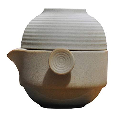 UPKOCH Teekanne Set Keramik Tragbar Asiatische Teekanne Teeservice Teekessel Chinesisch Kung Fu Tee Set mit Tasse für zu Hause Reise