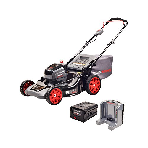 POWERWORKS 60V 21-inch Brushless HP Mower, 5Ah Battery and...