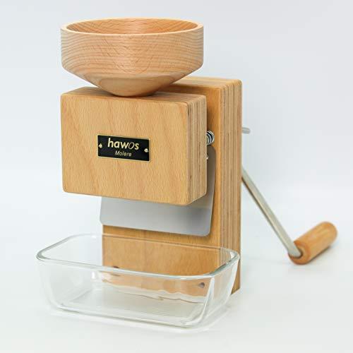 hawos Handmühle Molere in Buche Multiplex - Getreidemühle mit Handbetrieb