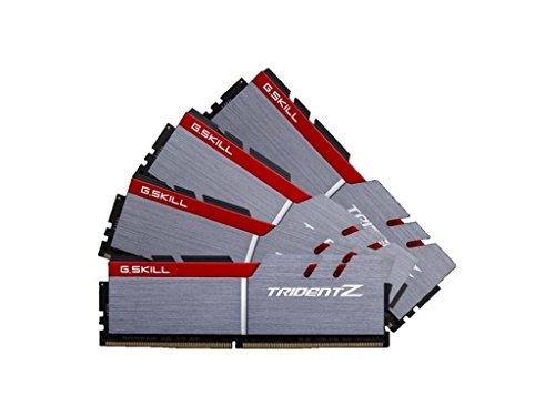 G.SKILL F4-4000C18Q-32GTZ Trident Z Series 32 GB (8 GB x 4) DDR4 4000 MHz PC4-32000 CL18 Dual Channel Memory Kit - Silver/Black
