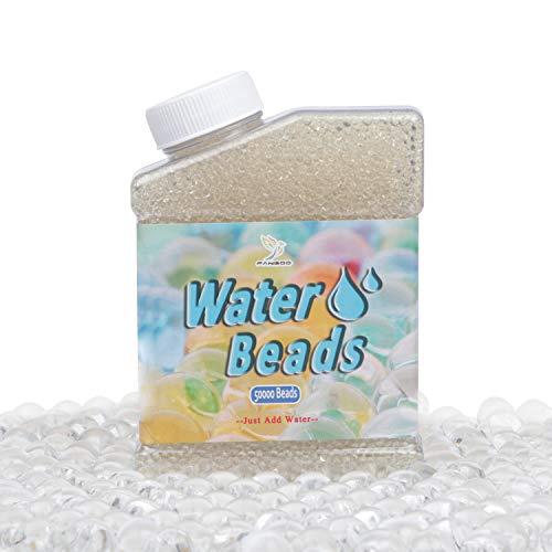 Wasserperlen 50,000 pcs Riesige Jelly Wasser Perlen Regenbogen Klar Mischung für Hochzeit und Wohndekoration, Pflanzen Vase Füller