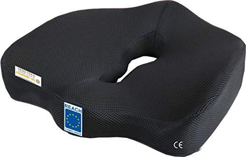 AIMO Spain COJÍN COXIS SC001 ortopédico Alivia presión, coxis, Ideal para Oficina, Silla Ruedas, Auto,