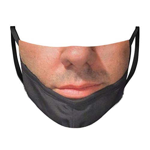 【US Stock】 Men's Cigar Smoking Funny Face Mask Fashion Novelty Cover Cloth Masks for Nose and Mouth Cover Washable Made in The USA