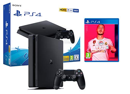 PS4 Slim 500gb schwarz Playstation 4 Konsole + FIFA 20