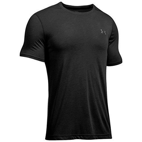 Under Armour - T-shirt Homme coupe ajustée - Noir (Black/Graphite (001)) - FR : S (Taille Fabricant : SM)