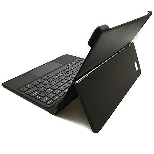 Blackview Tastatur Hülle für Tab8 / Tab 8E 10.1 Zoll, Soft TPU Rückseite Gehäuse Schutzhülle, Abnehmbarer Tastatur mit QWERTY Layout, Schwarz