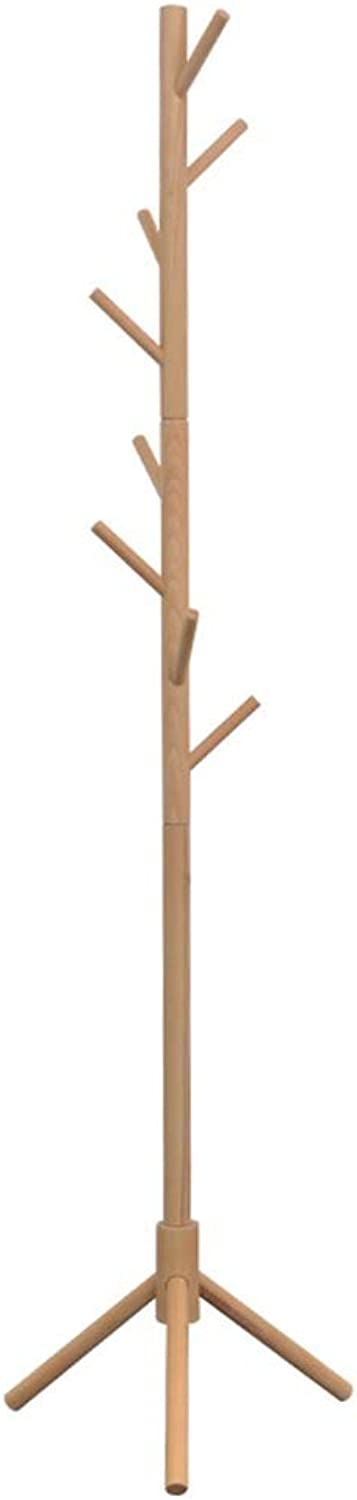 Standing Coat Racks Wooden Floor Hanger Coat Stand Modern Clothes Rack Simple Hat Coat Rack Clothes Tree Office Bedroom Living Room -0223
