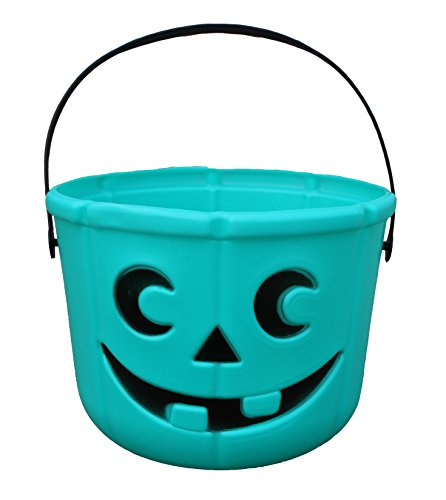 Allergy Superheroes Teal Pumpkin Candy Bucket from Our Food Allergy Family to Yours