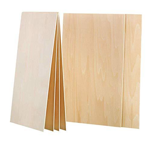 Guyuca 10 fogli di legno di balsa, 450 x 300 x 2 mm sottili fogli di compensato per fai da te artigianato in legno Mini casa barca modello aereo