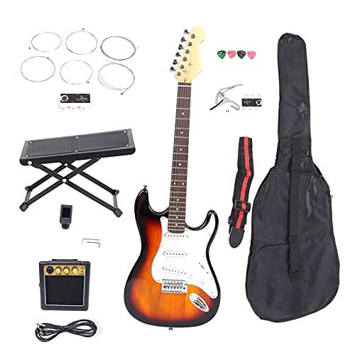 Juego De Guitarra Eléctrica, Puente De Péndulo único, Diseño De Mástil En Forma De C, Guitarras Sicomoro Para Aprender Música Para Principiantes Para Actuaciones En El Escenario