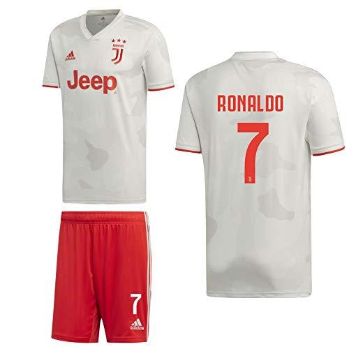 adidas Fußball Juventus Turin FC Away Kit 2019 2020 Auswärtsset Kinder Ronaldo 7 Gr 140