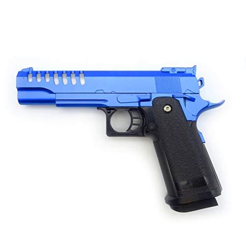 Softair Pistole Voll Metall Rayline RV17 Blue (Manuell Federdruck), Nachbau im Maßstab 1:1, Länge: 22cm, Gewicht: 450g, Kaliber: 6mm, Farbe: Blau - (unter 0,5 Joule - ab 14 Jahre)