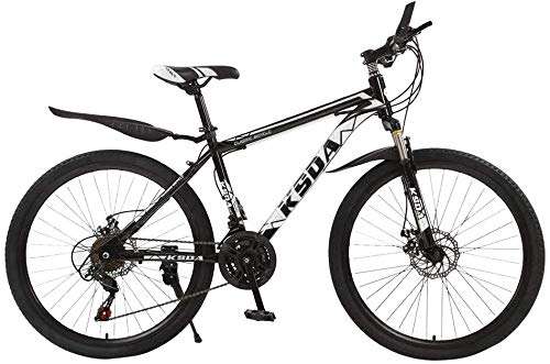 WJJH Mountain Bike for Men Land Rover 26 Inch with 21 Speed Dual Disc Brakes Suspesion Travel Camping Bicycle,Black