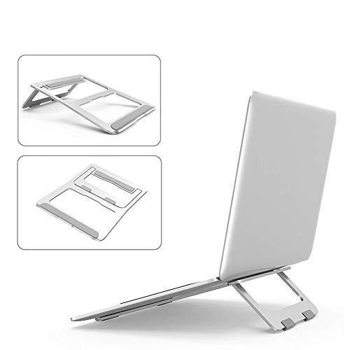 Aluminum Laptop Stand, Tablet Mount Holder Foldable Lightweight Ventilated Riser Stand, Desktop Cooling Desk Holder Portable Ergonomic Reading Drawing Typing