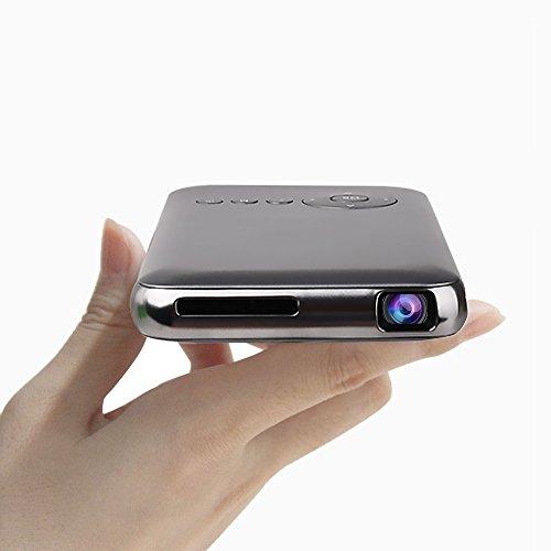 LED Mini Proiettore Portatile 300 Lumen ,DLP Proiettore Video Multimedia Home Theater con Supporto 1080P HDMI USB SCHEDA SD VGA AV per Home Cinema PC Portatile Giochi iPhone e Smartphone Android (32g, gray)