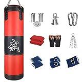 Qooltek Juego de 10 sacos de boxeo huecos con gancho, saco de boxeo para deportes de lucha, saco de boxeo para niños y niñas, niños y adolescentes, fitness, 100 cm φ30 cm