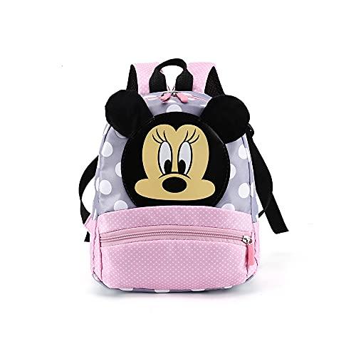 FGen Rucksack,Mickey Mouse Kinderrucksack,rucksack kindergarten für 3-8 Jährige im Kindergarten Jungen Rucksack Mädchen Rucksack(Pink)
