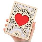 Biglietti d'auguri, biglietti d'amore in legno naturali fatti a mano, Biglietti di auguri in legno per ogni occasione, usati per compleanni, San Valentino, matrimoni, festa della mamma, Anniversario
