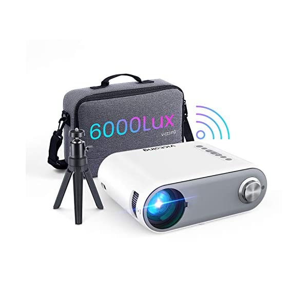 Mini Projector for iPhone, VicTsing Outdoor Portable Projector WiFi Projector 6000L,...