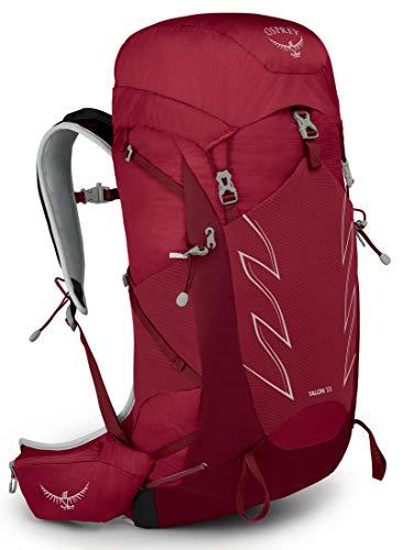 Osprey Talon 33 Mochila de senderismo para Hombre, Rojo (Cosmic Red), Talla L/XL