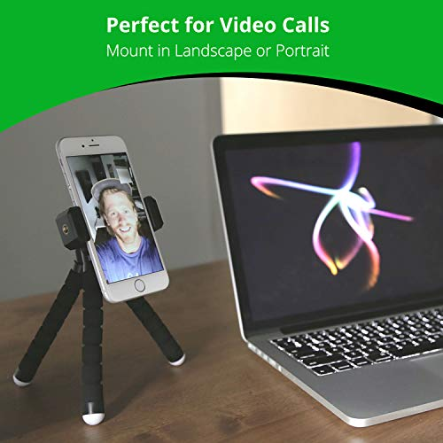 KobraTech Mini Cell Phone Tripod – TriFlex Mini – Flexible iPhone Tripod for Any Smartphone