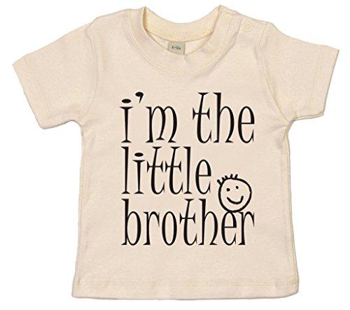 Image Vêtements bébé, I'm The Little Brother, T-Shirt bébé, 18-24m, Beige