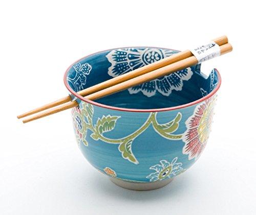Quality Japanese Ramen Udon Noodle Bowl with Chopsticks...