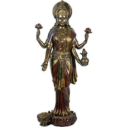 Buddha Lakshmi bronzefarben, mehrfarbig