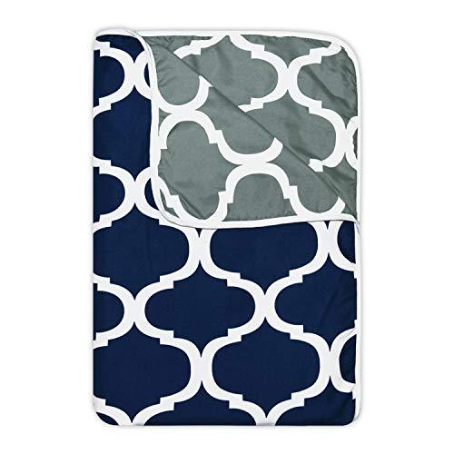 Divine Casa Polyester Double Ac Blanket, Dark Blue And Grey, 1 Piece