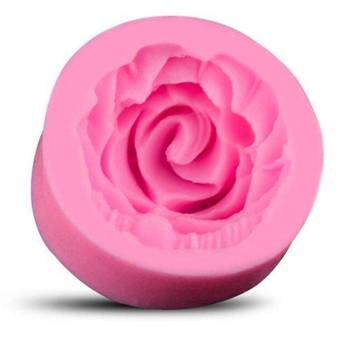 BestCool 3D DIY Mini Mignon Silicone Fondant Embarcations de Sucre Moule Grande Fleur Rose Décoration de Gâteau Petit Gâteau Cupcake Moules à Chocolat - Rose