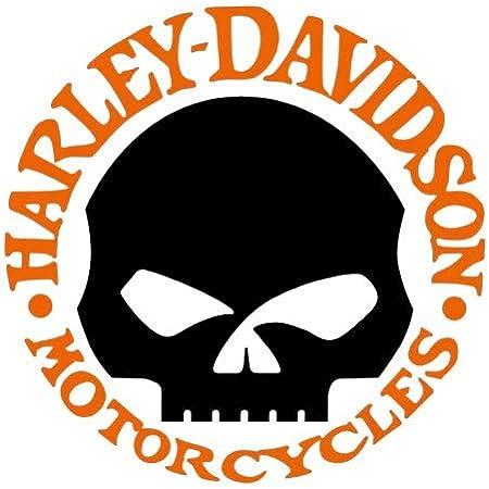 Retrolo Sticker Für Motorradhelm Harley Davidson Skull Auto