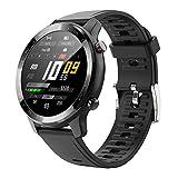 MISIRUN Smartwarch Mujer Hombre, 1.28 Pulgadas Reloj Inteligente con Pulsómetros, Impermeable IP67 Podómetro Pulsera Actividad Mujer Hombr Reloj Deportivo para Android iOS (Negro)
