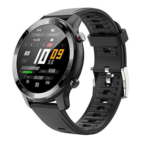 MISIRUN Smartwatch, Orologio Fitness Tracker Uomo Donna Smartwatch Sonno Cardiofrequenzimetro, Impermeabile IP67 Aciticity Tracker con Notifiche Messaggi Controller Musicale per Android iOS (Nero)