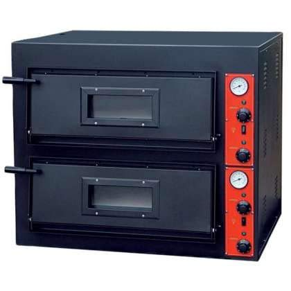Horno de pizza eléctrico serie Rústica de 8 pizzas 30 cm HEP30-2