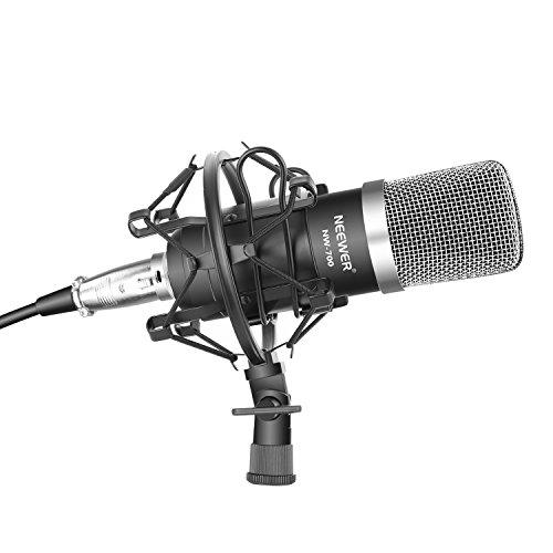 Neewer NW-700 プロ コンデンサーマイクセット スタジオ放送・レコーディング用セット内容:(1)NW-700コ...