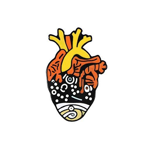 Broche de colección de corazón de órgano, ballena de mar, flor estrellada, arteria, pines de esmalte cerebral, bolsa, ropa, Pin de solapa, insignia de médico, regalo de joyería