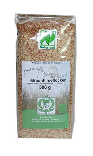 Getreide: Braunhirse Flocken, 500g