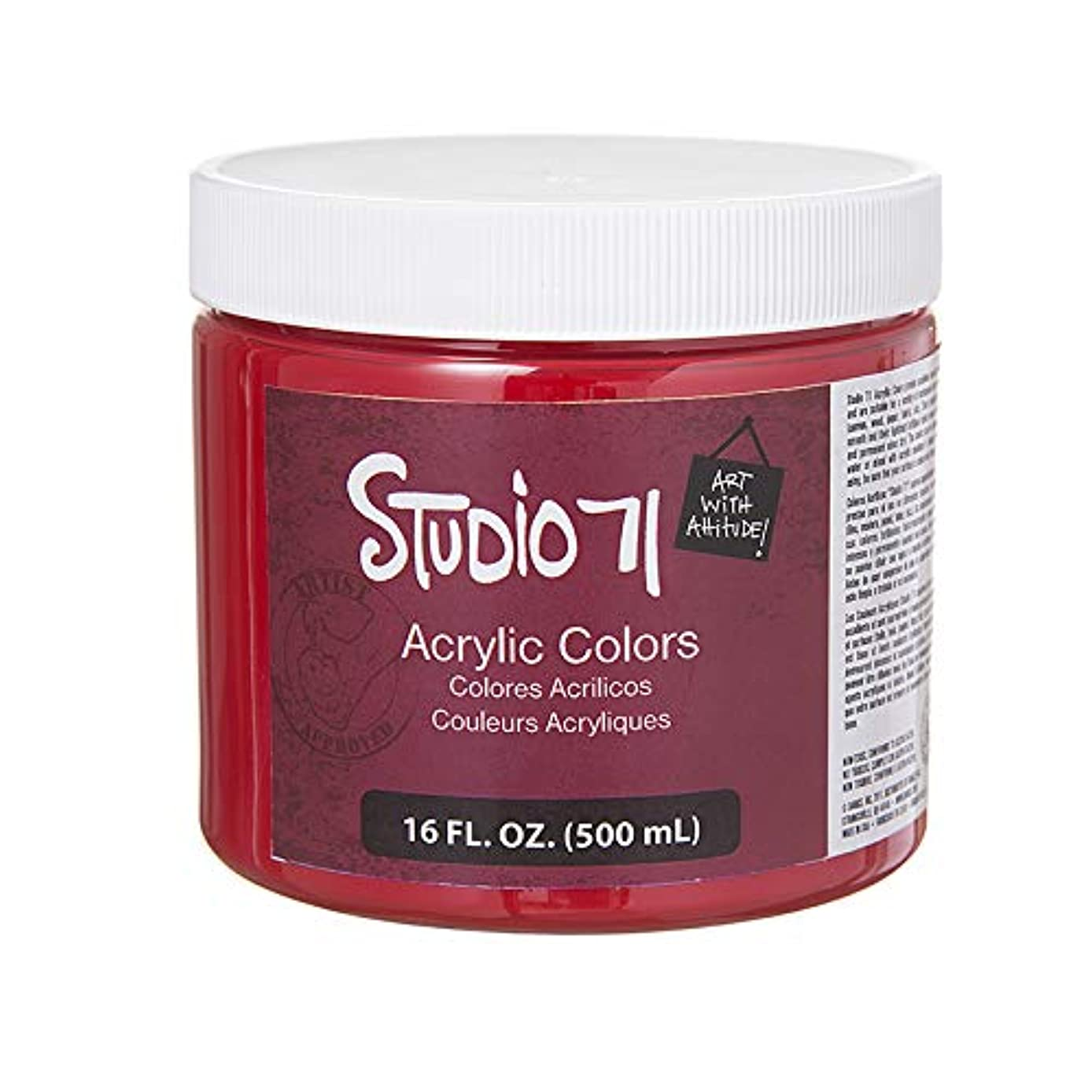 Darice 13943 Studio 71 Cadmium Red Hue, 16 fl oz Acrylic Paint,