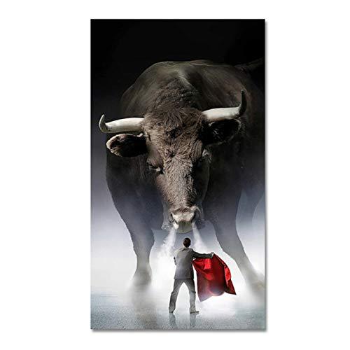 Decoración de pared Matador Poster Print Wall Art Canvas Painting Cuadro de corrida de toros para la sala de estar Decoración del hogar 16x20 pulgadas (40x50cm)