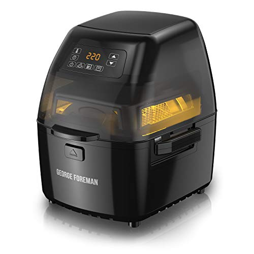 George Foreman GHFD6800B Twist 'N Crisp Air Fryer, with Rotisserie, 3L Capacity, Black