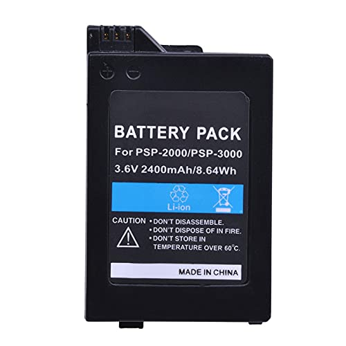 RFGTYH Batería de 3.6V 2400mAh para Sony PSP2000 PSP3000 Batería de Gamepad para Controlador portátil Playstation